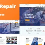 Car Repair Website Template Free Download (WordPress)