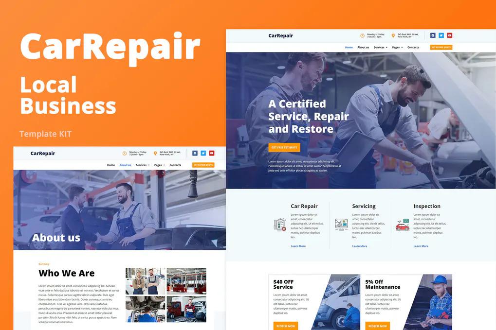 Car Repair Website Template Free Download (WordPress)
