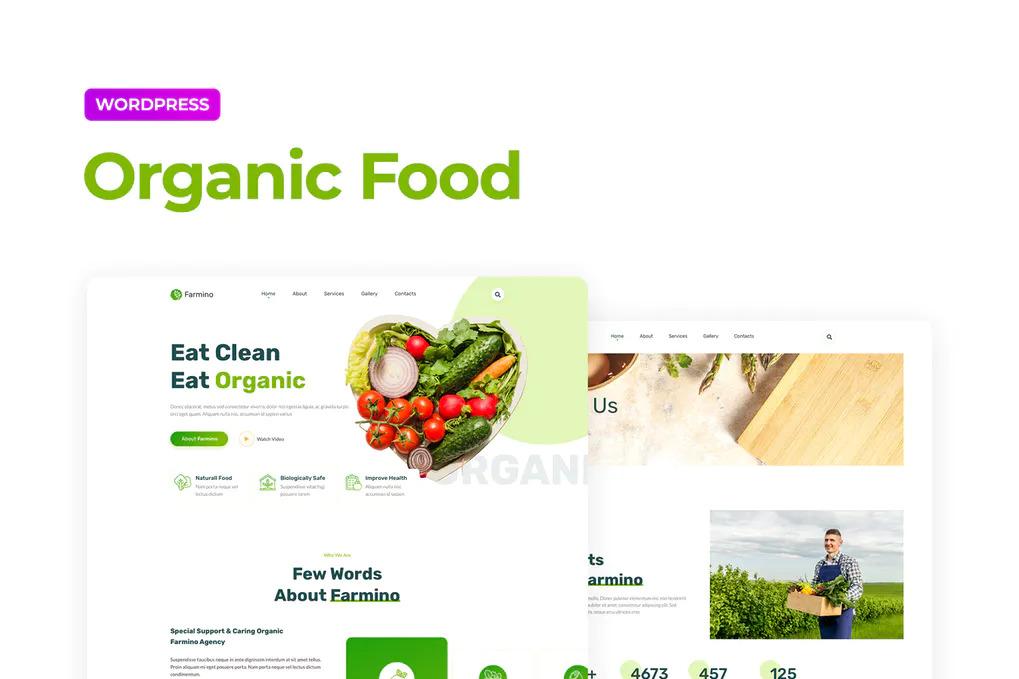 Organic Food Website Templates Free Elementor (WordPress)