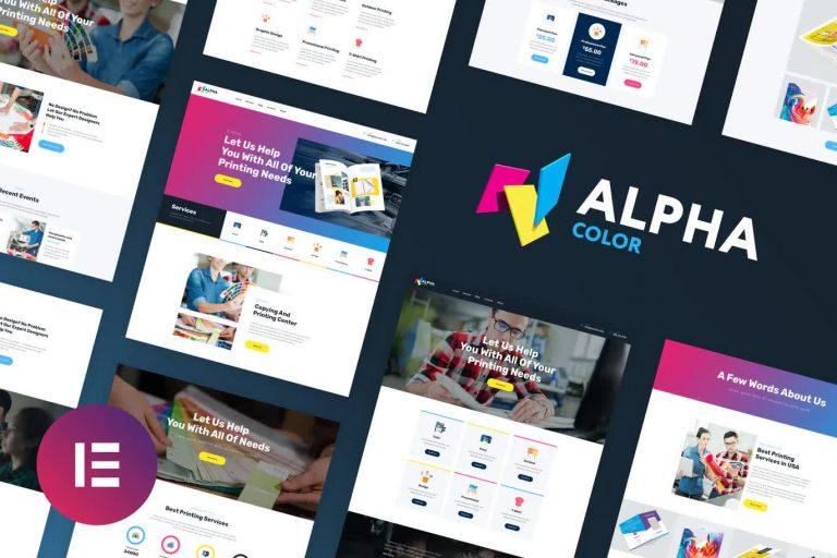 Design & Printing Website Template Elementor Kit Free