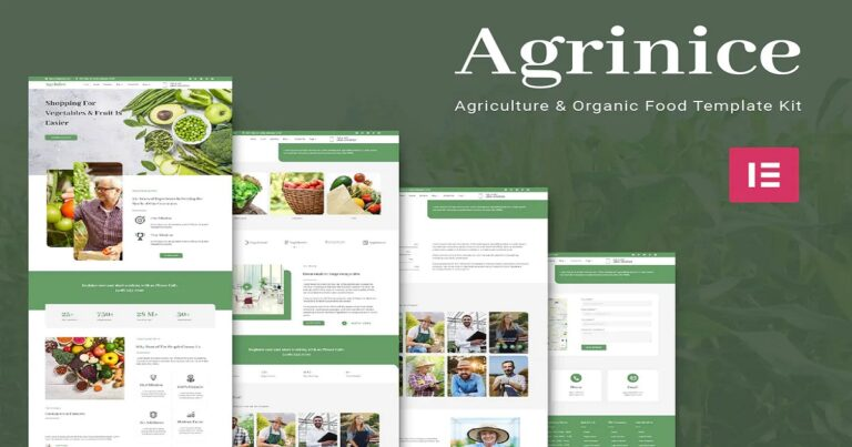 Agriculture and Organic Food Website Template