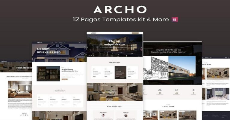Architecture & Interior Website Templates Free Download