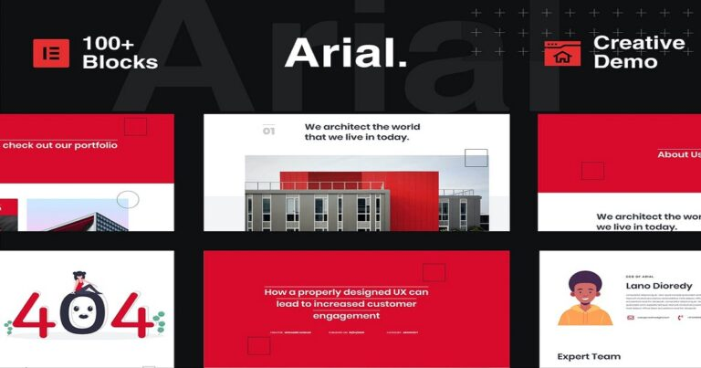 Arial - architecture construction website templates free download