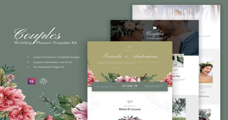 Couples - Wedding Planner Elementor Template Free Download