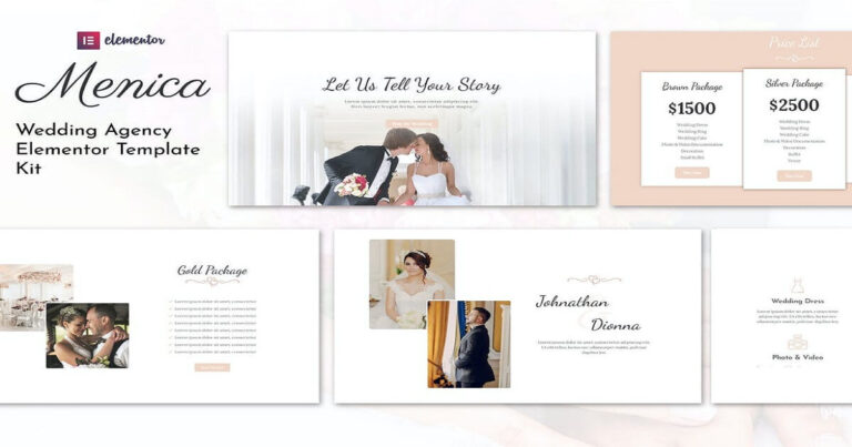 Menica - Wedding Planner Elementor Template Free Download