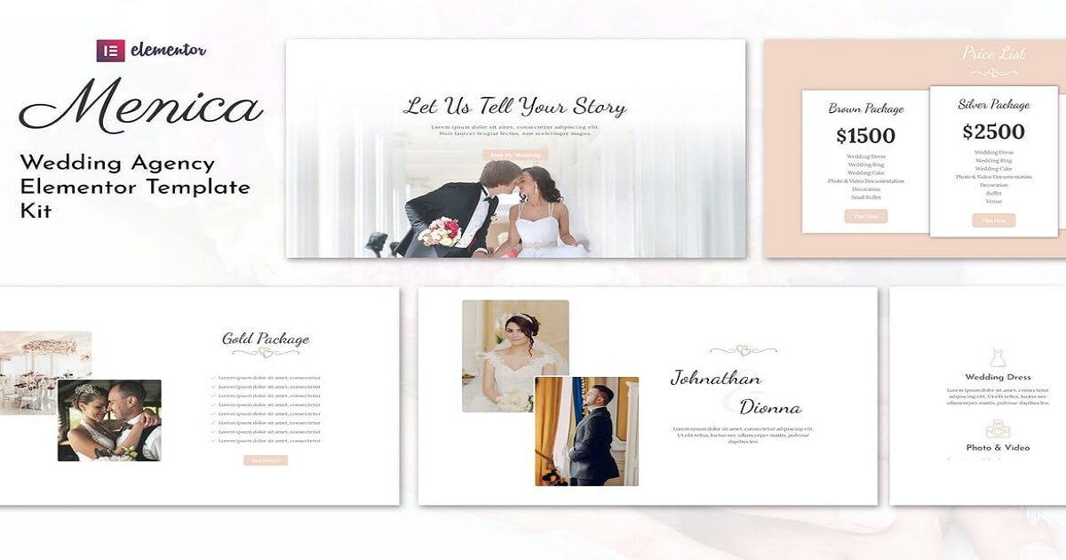 Menica - Wedding Planner Elementor Template Free Download