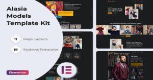 Model Agency Website Template Free (Elementor) Kit