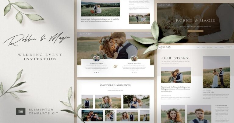 Robbie Magie - Wedding Event Planner Website Template (Elementor) Free