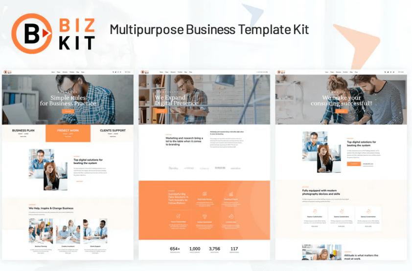 Bizkit Multipurpose Business Website Template Free