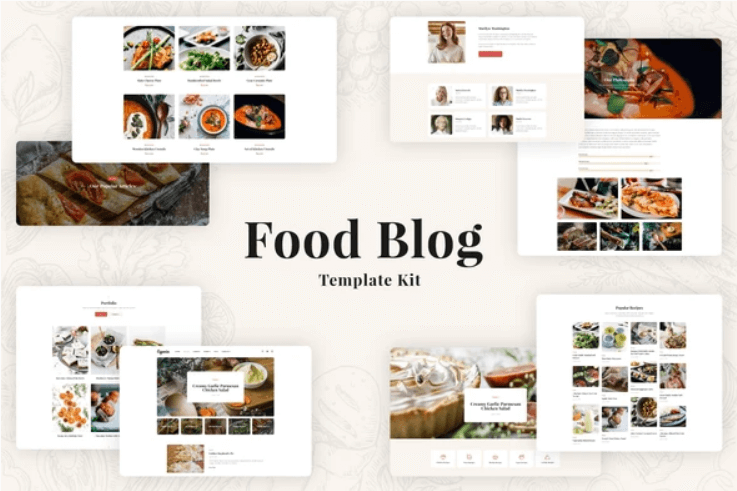 Food Blog Elementor Template Kit – Especio