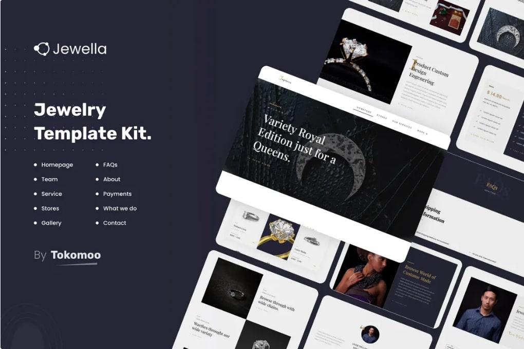 Jewella - Jewellery Website Templates WordPress