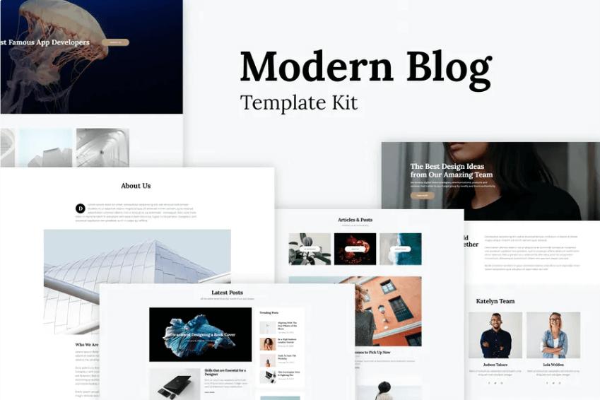 Katelyn – Modern Blog Template for Elementor Kit(1)