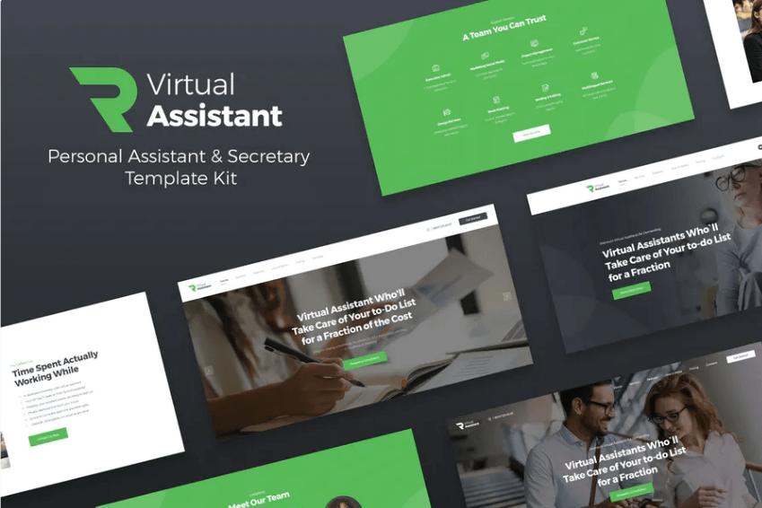 Revirta - Virtual Assistant Website Template Elementor