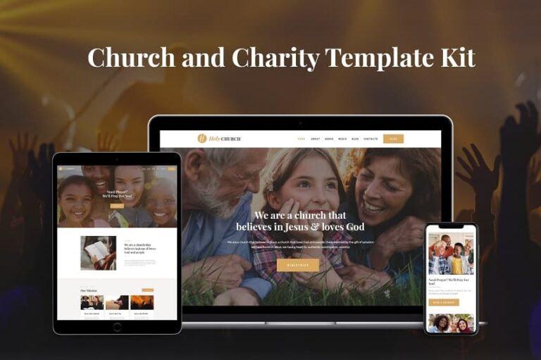Best Church Website Template for WordPress