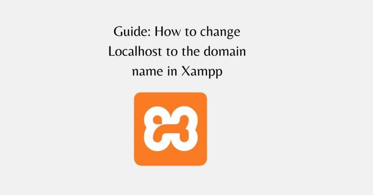 How to change Localhost to domain name in Xampp